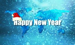 Gelukkige nieuwe jaarwereld vector illustratie