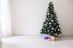 Gelukkige nieuwe van het Huis Binnenlandse giften van jaarkerstmis van de het speelgoedboom de wintervakantie royalty-vrije stock foto