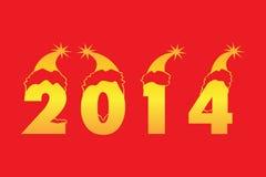 Gelukkige Nieuwjaar 2014 Achtergrond Stock Foto's