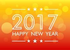 Gelukkige Nieuwjaar 2017 achtergrond stock illustratie