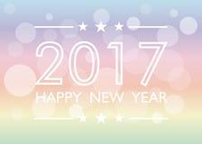 Gelukkige Nieuwjaar 2017 achtergrond royalty-vrije illustratie
