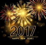 Gelukkige Nieuwjaar 2017 achtergrond Stock Afbeelding