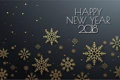 Gelukkige Nieuwjaar 2018 Achtergrond met Sneeuwvlokontwerp Gelukkige Holi vector illustratie