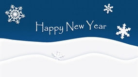 Gelukkige Nieuwjaar achtergrondtextuursneeuwvlok Royalty-vrije Stock Afbeelding