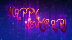 Gelukkige Nieuwjaar 2018 Animatie Stock Footage Video Bestaande