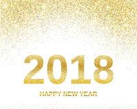 Gelukkige Nieuwjaar 2018 banner Stock Fotografie