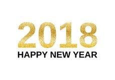 Gelukkige Nieuwjaar 2018 banner Stock Afbeelding