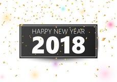 Gelukkige Nieuwjaar 2018 banner Royalty-vrije Stock Afbeelding