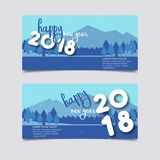 Gelukkige Nieuwjaar 2018 banner Royalty-vrije Stock Fotografie
