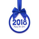 Gelukkige Nieuwjaar 2018 banner Stock Foto's
