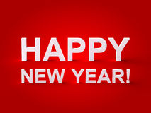 Gelukkige Nieuwjaar 3d Tekst Stock Foto