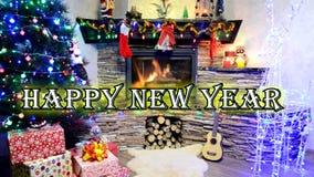 Gelukkige Nieuwjaar en Meryy-Kerstmis 2019 royalty-vrije illustratie