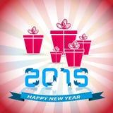 Gelukkige Nieuwjaar 2015 grappige achtergrond Royalty-vrije Stock Fotografie