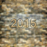 Gelukkige Nieuwjaar 2015 kaart Stock Foto