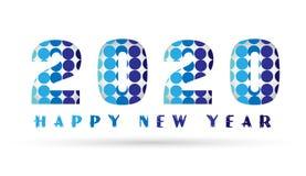 2020 Gelukkige Nieuwjaar 2020 kaart en het ontwerp van de groettekst bacground Royalty-vrije Illustratie