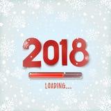 Gelukkige Nieuwjaar 2018 lading Abstract ontwerp Royalty-vrije Stock Fotografie