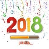Gelukkige Nieuwjaar 2018 lading Kleurrijk abstract ontwerp Royalty-vrije Stock Foto