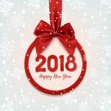 Gelukkige Nieuwjaar 2018 ronde banner Royalty-vrije Stock Fotografie