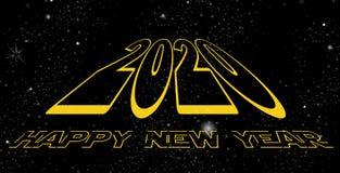 Gelukkige Nieuwjaar 2020 ruimte vector illustratie