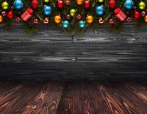 2017 Gelukkige Nieuwjaar seizoengebonden achtergrond met Kerstmissnuisterijen Royalty-vrije Stock Fotografie