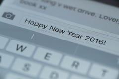 Gelukkige Nieuwjaar 2016 tekst Stock Afbeelding