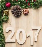 Gelukkige Nieuwjaar 2017 vakantie Stock Afbeeldingen