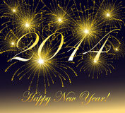 Gelukkige Nieuwjaar 2014-vector Illustratie. Stock Illustratie