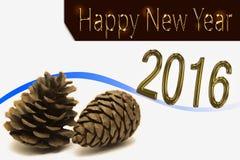 Gelukkige Nieuwjaar 2016 viering Stock Afbeeldingen