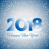 2018 Gelukkige Nieuwjaarachtergrond Stock Afbeeldingen