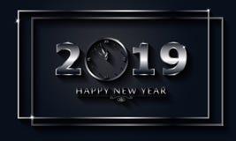 2019 Gelukkige Nieuwjaarachtergrond Vakantie van het Jaar van 2019 Premieluxe Kerstmis stock foto