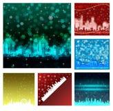 Gelukkige Nieuwjaarachtergronden Royalty-vrije Stock Afbeeldingen