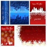 Gelukkige Nieuwjaarachtergronden Royalty-vrije Stock Afbeelding