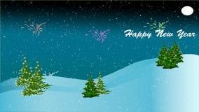 Gelukkige Nieuwjaaranimatie stock illustratie
