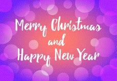 Gelukkige Nieuwjaardecoratie als achtergrond met bokeh Stock Foto's