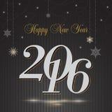 2016 Gelukkige Nieuwjaargroet Stock Fotografie