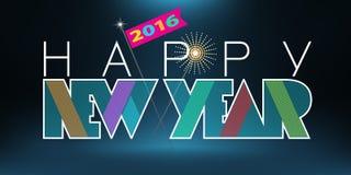 2016 Gelukkige Nieuwjaargroet Stock Afbeeldingen