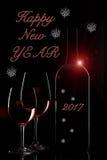 Gelukkige Nieuwjaargroeten Stock Foto