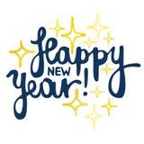 Gelukkige Nieuwjaarhand - het gemaakte van letters voorzien Royalty-vrije Stock Afbeelding