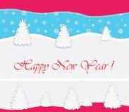 Gelukkige Nieuwjaarprentbriefkaar Royalty-vrije Stock Afbeelding