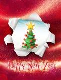 Gelukkige Nieuwjaarskaart Stock Foto