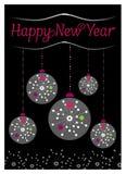 Gelukkige Nieuwjaarskaart Stock Afbeelding