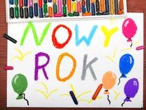 Gelukkige Nieuwjaartekening Stock Foto