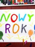 Gelukkige Nieuwjaartekening Royalty-vrije Stock Foto's