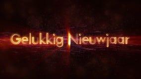 Gelukkige Nieuwjaartekst In Nederlandse De Lijnanimatie Van Gelukkig