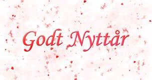 Gelukkige Nieuwjaartekst in Noor Stock Foto