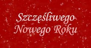 Gelukkige Nieuwjaartekst in Pools Stock Fotografie