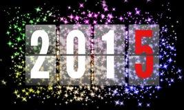 2015 gelukkige Nieuwjaren Stock Fotografie