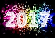 2017 gelukkige Nieuwjaren stock foto