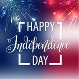 Gelukkige onafhankelijkheid dag de V.S. Vierde van Juli Patriottische attributen, partijuitnodiging Vector illustratie EPS10 stock illustratie