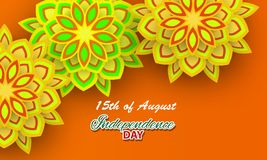 Gelukkige Onafhankelijkheid dag India, Vectorillustratie Stock Foto